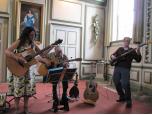 Claret Trio/Duo/Tim Robinson Solo Acoustic Guitar Logo