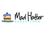 Mad Hatter Party Food Logo