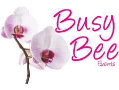 BUSY BEE EVENTS & BUSY BEE EVENTS CORPORATE LTD & BEAT-N-BOP DISCOS Logo