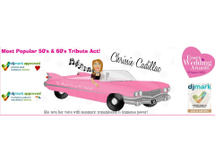 Chrissie Cadillac - 50's & 60's Tribute Act/Free Disco Logo