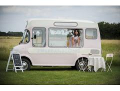 Sweet Ally Scoops Vintage Ice Cream Van Logo