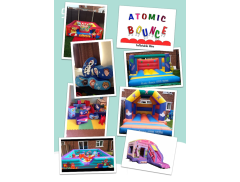 Atomic Bounce soft play and castle hire in scunthorpe. Logo