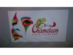 Chameleon Face and Body Art Logo