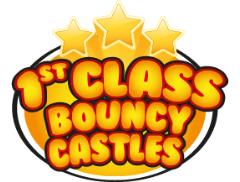 1st Class Bouncy Castles Logo