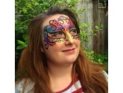 Happy Husky Face Painting Logo