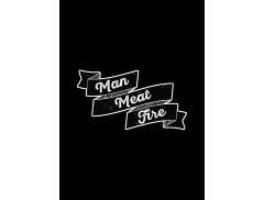 Man Meat Fire Logo