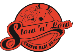 Slow 'N' Low Cooked Meat Co Logo