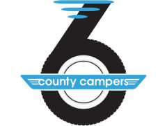 6 County Campers (Domino) Logo