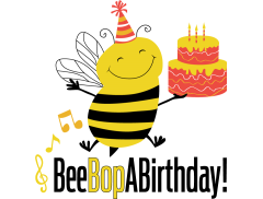 Bee Bop a Birthday Logo