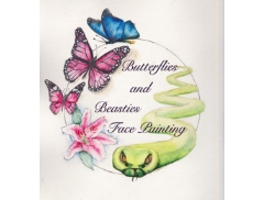 Butterflies and Beasties Facepainting  Logo