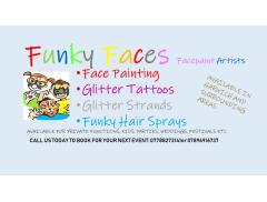 Funky face-facepaint artist Logo