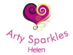 Arty Sparkles Helen Face & Body Painting Logo