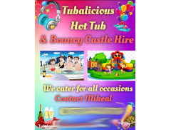 Tubalicious Hot Tub and Bouncy Castle Hire  Logo