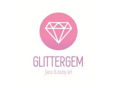 Glittergem face and body Art  Logo