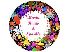 Maria Paints & Sparkle Logo